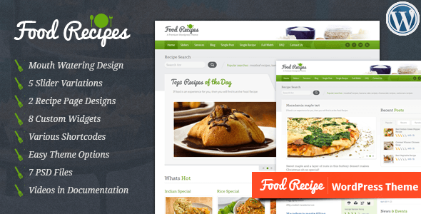 Food Recipes 3.0 - WordPress Theme