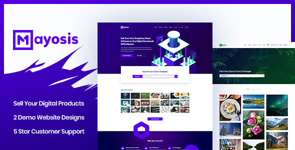 Mayosis Digital Marketplace WordPress Theme