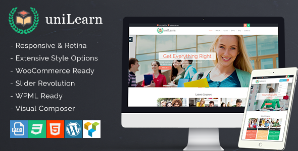 UniLearn Education and Courses WordPress Theme