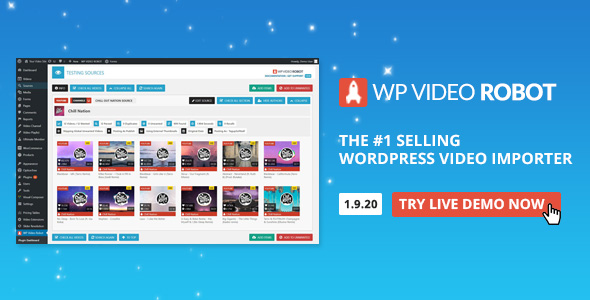 WordPress Video Robot 1.11.1 Nulled - The Ultimate Video Importer