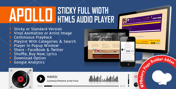 Apollo Audio Player for WPBakery Page Builder