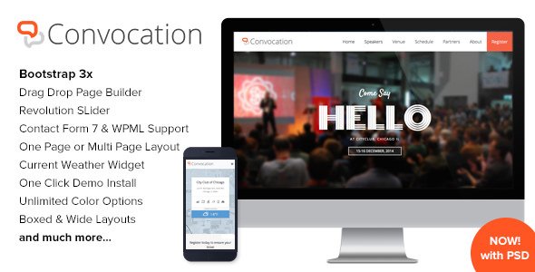 Convocation Event and Conference WordPress Theme