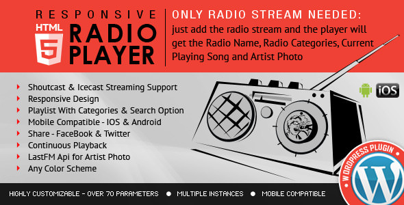 Плагин Radio Player Shoutcast и Icecast для WordPress