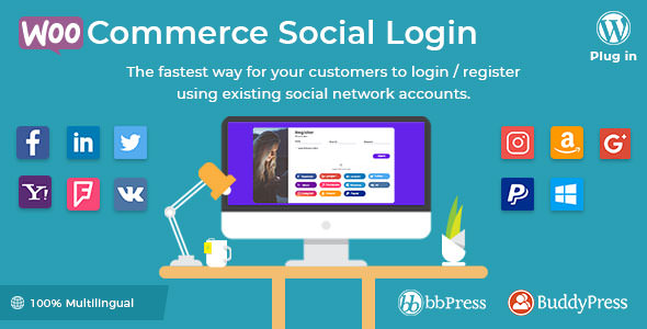 WooCommerce Social Login 2.3.4 Nulled
