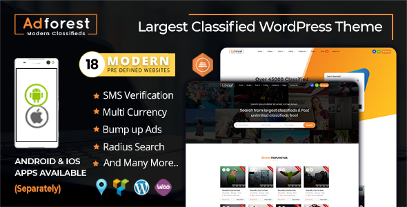 AdForest 3.4.6 - Classified Ads WordPress Theme