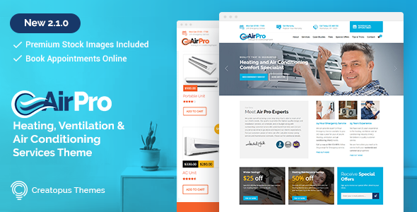 AirPro 2.2.1 - Heating and Air conditioning WordPress Theme for Maintenance Services