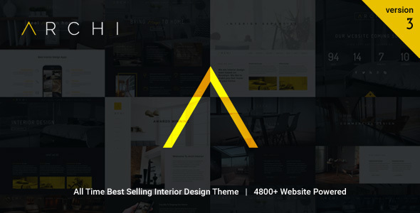 Archi 3.9.2 - Interior Design WordPress Theme