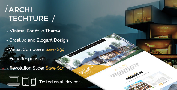 Architecture 1.1 - Portfolio, Creative, WordPress Theme