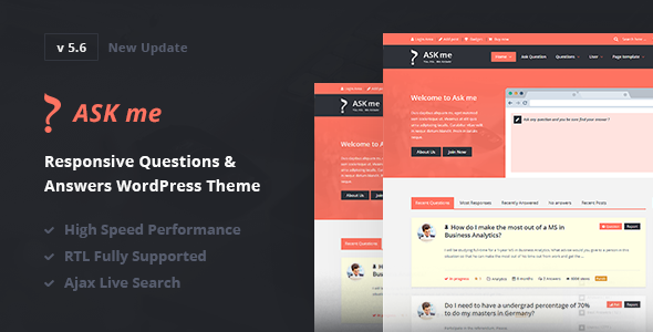 Ask Me 6.4 Nulled - Responsive Questions & Answers WordPress