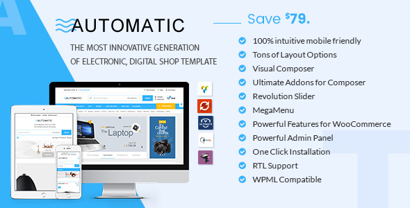 Automatic 1.9 - WooCommerce Theme for Electronic, Computer, Digital Store
