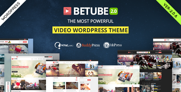 Betube 2.0.6 - Video WordPress Theme