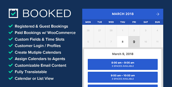 Booked 2.2 - Appointment Booking for WordPress