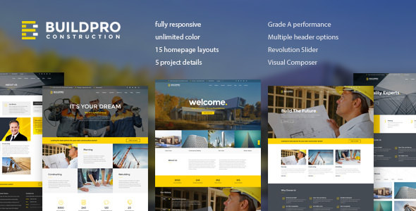 BuildPro 1.0.9.2 - Business, Building & Construction Theme