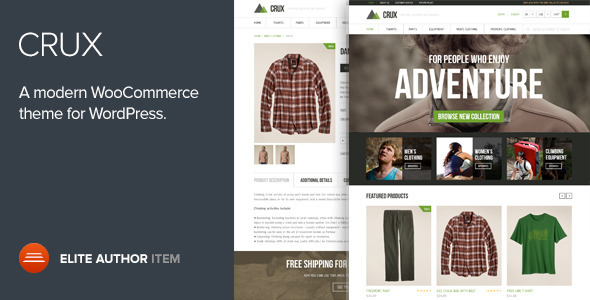 Crux 2.0.0 - Modern and lightweight WooCommerce theme