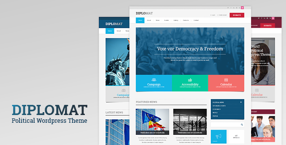 Diplomat 1.1.9 - Political Campaign, Party, Blog Responsive WordPress Theme