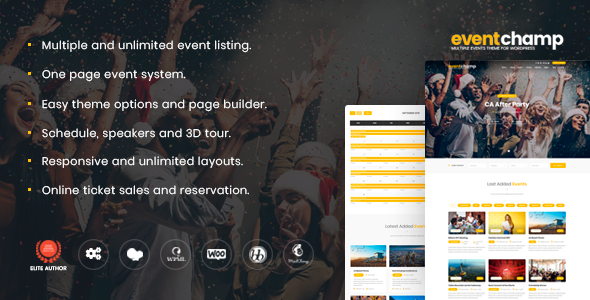 Event Champ 1.7.4 – Multiple Events & Conference Theme