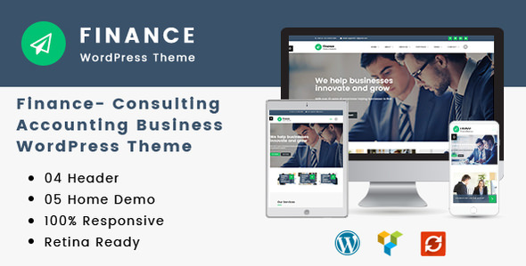 Finance 1.2.6 – Consulting, Accounting WordPress Theme – WeaDown