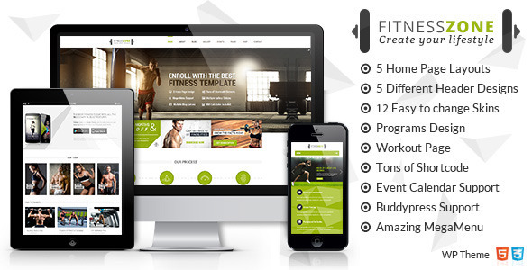 Fitness Zone 3.6 - Gym & Fitness Theme, perfect fit for fitness centers and Gyms