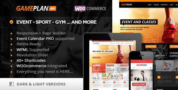 Gameplan 1.5.18 – Event and Gym Fitness Theme – WeaDown