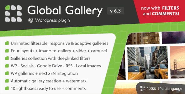Global Gallery 6.32 - WordPress Responsive Gallery