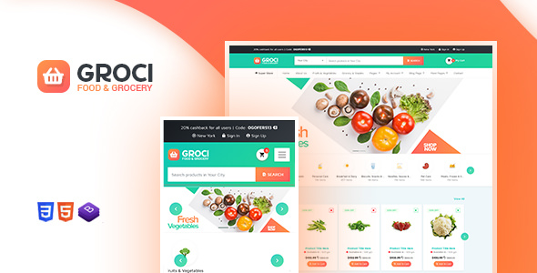 Groci 1.3 - Organic Food and Grocery Market Theme