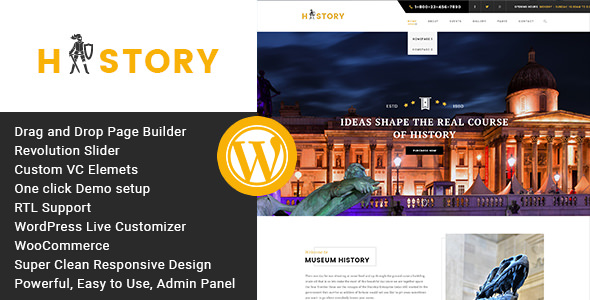 History 1.2.2 - Museum and Exhibition WordPress Theme
