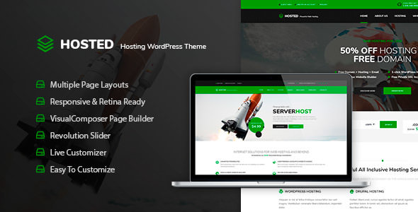 Hosted 1.0.2 - WordPress Hosting Theme + WHMCS