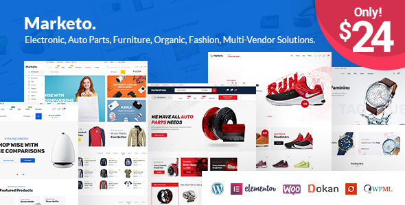 Marketo 1.3.2 - ECommerce & Multivendor WordPress Theme