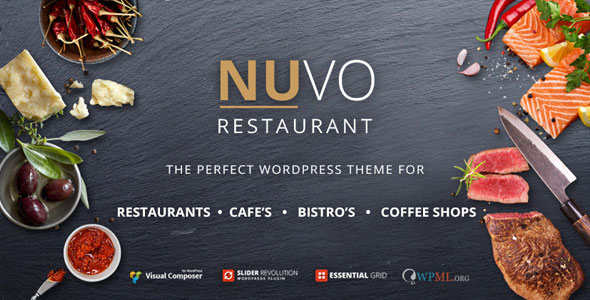 NUVO 6.0.9 - Restaurant, Cafe & Bistro WordPress Theme