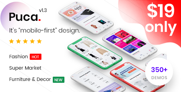 Puca 1.3.6 - Optimized Mobile WooCommerce Theme