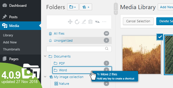 Real Media Library 4.0.9 - Media Categories / Folders File Manager