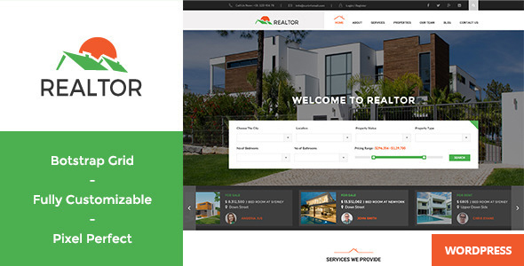 Realtor 1.4.1 - Responsive Real Estate WordPress Theme