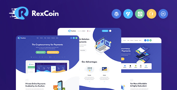 RexCoin 1.1 - A MultiPurpose Cryptocurrency WordPress Theme