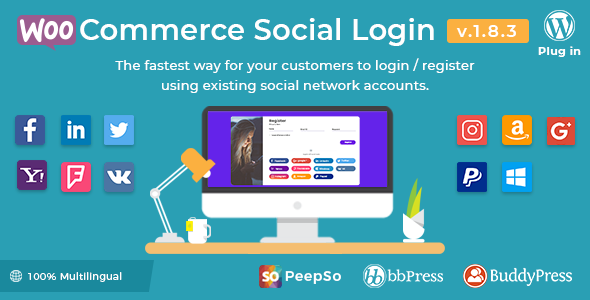 WooCommerce Social Login 1.8.2 - WordPress plugin