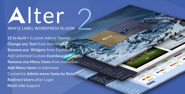 WpAlter 2.3.4 - White Label WordPress Plugin
