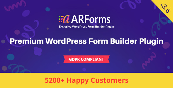 ARForms 3.6 - WordPress Form Builder Plugin