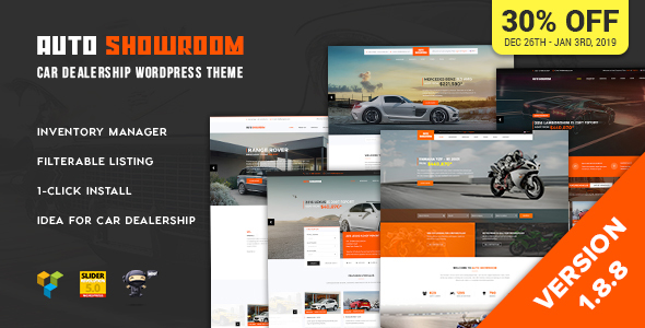 Auto Showroom 1.8.8 - Car Dealership WordPress Theme