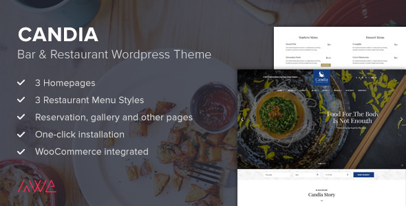 Candia 1.1.3 - Bar & Restaurant WordPress Theme