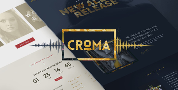 Croma 3.4.9 - Responsive Music WordPress Theme