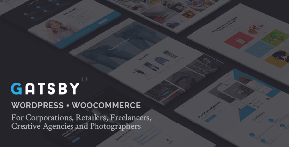 Gatsby 1.5 - WordPress + eCommerce Theme