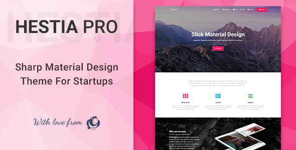 Hestia Pro 2.0.14 - Sharp Material Design Theme For Startups