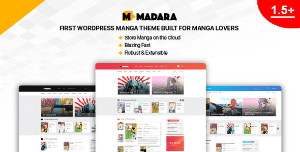 Madara 1.5.1.1 - WordPress Theme for Manga