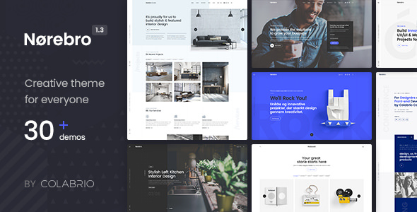 Norebro 1.3.5 - Creative Multipurpose WordPress Theme