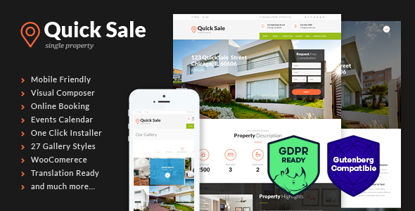 Quick Sale 3.0.1 - Single Property Real Estate Theme