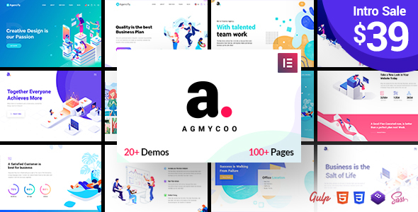 Agmycoo 1.3 - Isometric Creative Digital Agency WordPress Theme