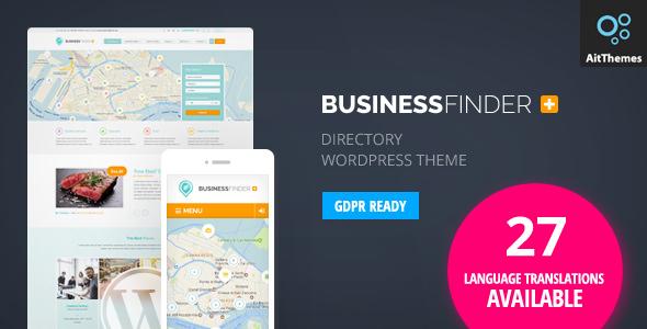 Business Finder 2.48 - Directory Listing WordPress Theme