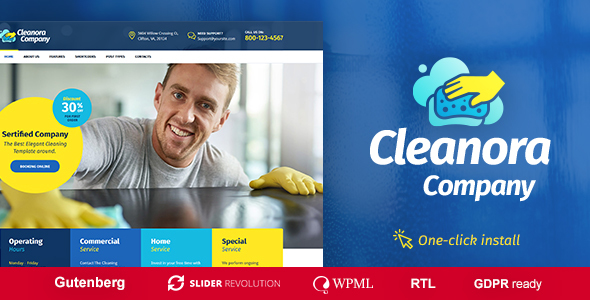 Cleanora 1.0.0 - Cleaning Services Theme