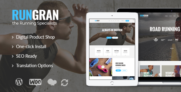 Run Gran 1.0 - Sports Apparel & Gear Store WordPress Theme