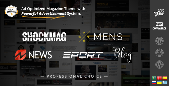 Shockmag 1.2.4 - Ad Optimized Magazine WordPress Theme