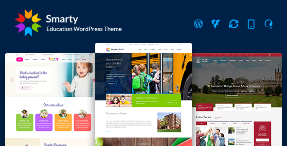 Smarty 3.4.5 Nulled - Education WordPress Theme